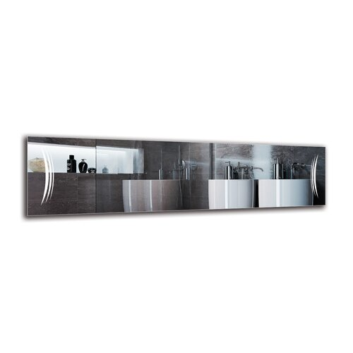 Rakel Bathroom Mirror Metro Lane Size: 40cm H x 150cm W