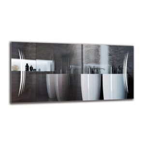 Rakel Bathroom Mirror Metro Lane Size: 50cm H x 100cm W