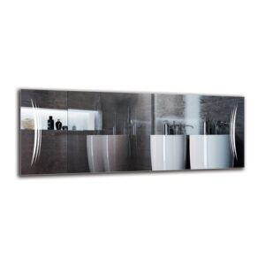 Rakel Bathroom Mirror Metro Lane Size: 50cm H x 130cm W