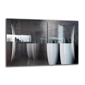 Rakel Bathroom Mirror Metro Lane Size: 60cm H x 90cm W