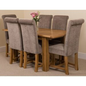 Riback Kitchen Dining Set with 6 Chairs Rosalind Wheeler Colour (Chair): Grey