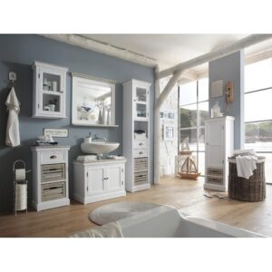 Russel 5 Piece Bathroom Set with Mirror Massivum