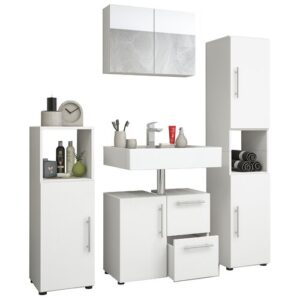 Sonoma 4 Piece Bathroom Furniture Set with Mirror Metro Lane