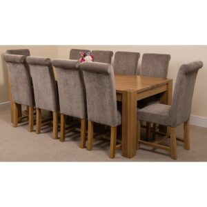 Stainbrook Chunky Kitchen Dining Set with 10 Chairs Rosalind Wheeler Colour (Chair): Grey