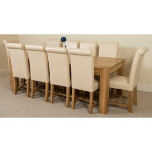 Stainbrook Chunky Kitchen Dining Set with 10 Chairs Rosalind Wheeler Colour (Chair): Ivory