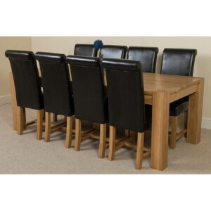 Stainbrook Chunky Kitchen Dining Set with 6 Chairs Rosalind Wheeler Colour (Chair): Black, Table Size: 77cm H x 220cm L x 100cm W