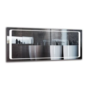 Surig Bathroom Mirror Metro Lane Size: 50cm H x 110cm W