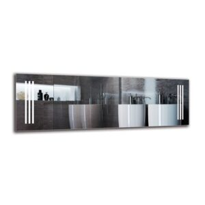 Tateos Bathroom Mirror Metro Lane Size: 40cm H x 120cm W