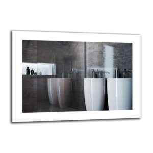 Tatul Bathroom Mirror Metro Lane Size: 50cm H x 70cm W