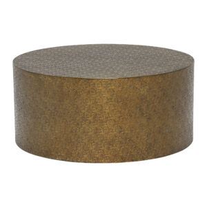 Tolfa Drum Coffee Table, Brass