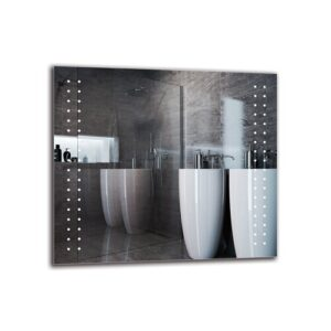 Torkom Bathroom Mirror Metro Lane Size: 80cm H x 90cm W