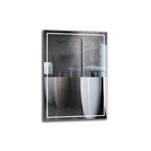 Tornig Bathroom Mirror Metro Lane Size: 100cm H x 70cm W