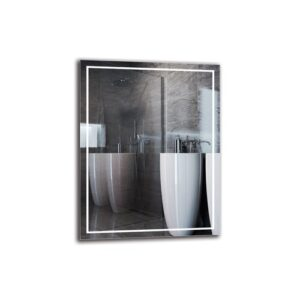 Tornig Bathroom Mirror Metro Lane Size: 90cm H x 70cm W