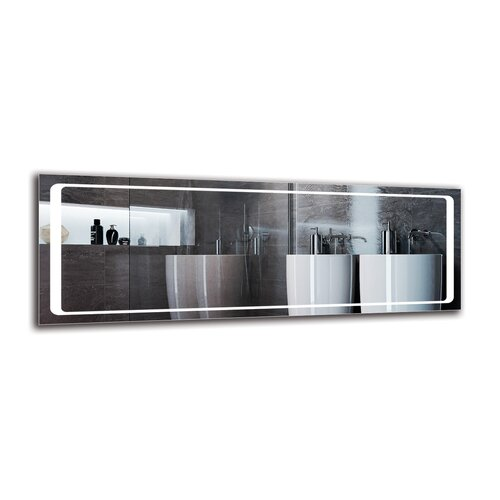 Tovin Bathroom Mirror Metro Lane Size: 50cm H x 140cm W