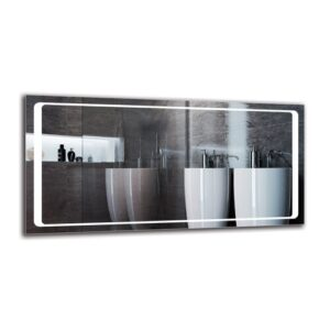 Tovin Bathroom Mirror Metro Lane Size: 60cm H x 120cm W