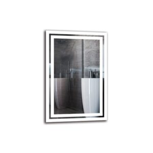 Tro Bathroom Mirror Metro Lane Size: 60cm H x 40cm W