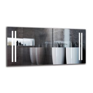 Tukhig Bathroom Mirror Metro Lane Size: 50cm H x 100cm W