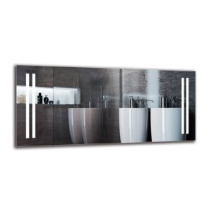 Tukhig Bathroom Mirror Metro Lane Size: 50cm H x 110cm W