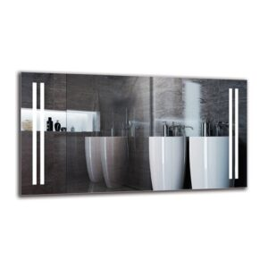 Tukhig Bathroom Mirror Metro Lane Size: 60cm H x 110cm W