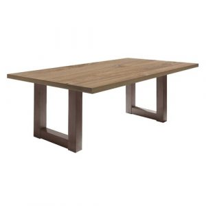 Upper Strode Dining Table Brayden Studio Frame Colour: Brown, Tabletop Colour: Brown, Size: 75cm H x 200cm W x 100cm D