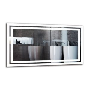 Vagharshag Bathroom Mirror Metro Lane Size: 40cm H x 70cm W