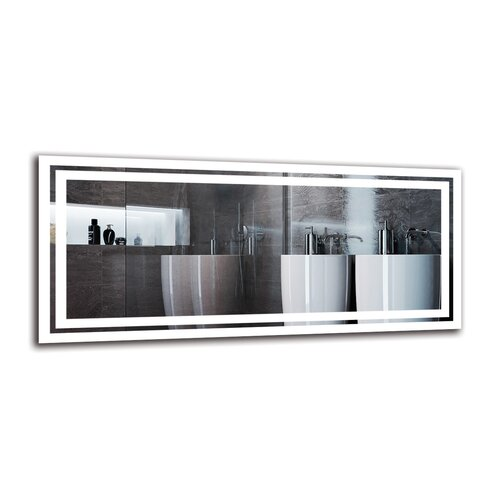 Vagharshag Bathroom Mirror Metro Lane Size: 40cm H x 90cm W