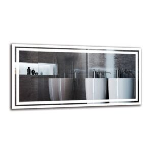 Vagharshag Bathroom Mirror Metro Lane Size: 50cm H x 100cm W