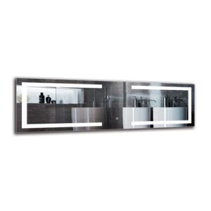 Vahan Bathroom Mirror Metro Lane Size: 40cm H x 130cm W