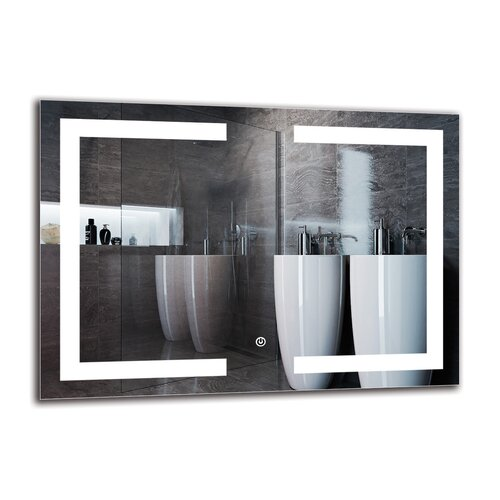 Vahan Bathroom Mirror Metro Lane Size: 50cm H x 70cm W
