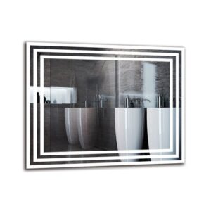 Vahig Bathroom Mirror Metro Lane Size: 40cm H x 50cm W