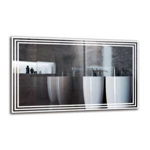 Vahig Bathroom Mirror Metro Lane Size: 60cm H x 100cm W