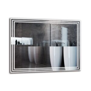 Vahig Bathroom Mirror Metro Lane Size: 70cm H x 90cm W