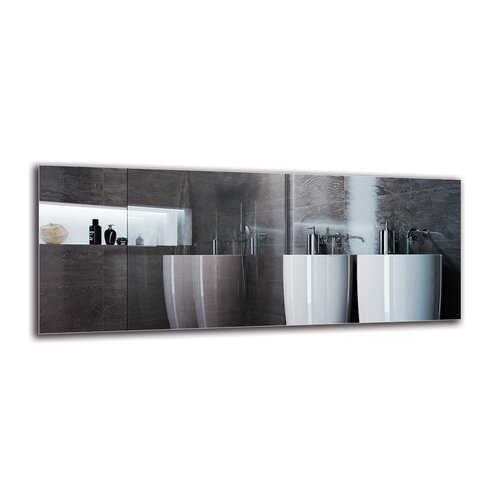 Vahrij Bathroom Mirror Metro Lane Size: 40cm H x 100cm W