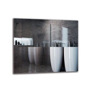 Vahrij Bathroom Mirror Metro Lane Size: 60cm H x 70cm W