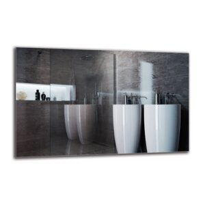 Vahrij Bathroom Mirror Metro Lane Size: 70cm H x 110cm W