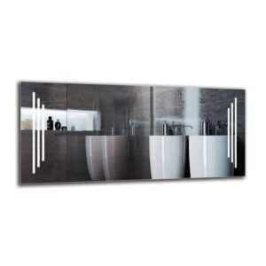 Vartkes Bathroom Mirror Metro Lane Size: 50cm H x 110cm W