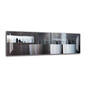 Vartkes Bathroom Mirror Metro Lane Size: 50cm H x 150cm W