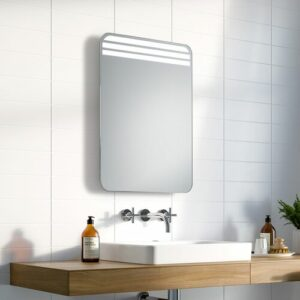 Victor LED Illuminated Bathroom Mirror Ivy Bronx Size: 70cm H x 50cm W x 3.2cm D