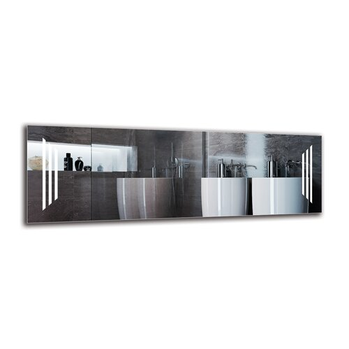 Vorodan Bathroom Mirror Metro Lane Size: 40cm H x 120cm W