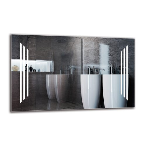 Vorodan Bathroom Mirror Metro Lane Size: 50cm H x 80cm W