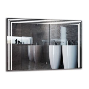 Vorti Bathroom Mirror Metro Lane Size: 70cm H x 100cm W