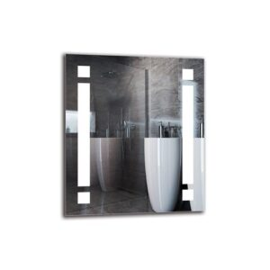Vrej Bathroom Mirror Metro Lane Size: 70cm H x 60cm W
