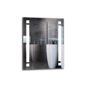 Vrej Bathroom Mirror Metro Lane Size: 90cm H x 70cm W