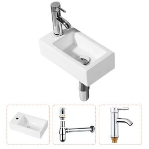 Weigand Ceramic Wall Hung Basin with Tap Belfry Bathroom