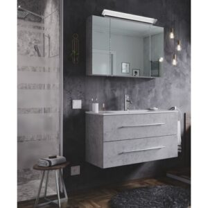 Wingil 900mm Bathroom Furniture Suite with LED Mirror Ivy Bronx