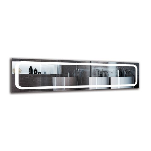 Yeghia Bathroom Mirror Metro Lane Size: 40cm H x 150cm W