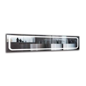 Yeghia Bathroom Mirror Metro Lane Size: 40cm H x 160cm W