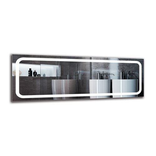 Yeghia Bathroom Mirror Metro Lane Size: 50cm H x 140cm W