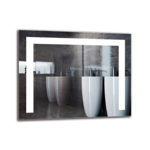 Yergat Bathroom Mirror Metro Lane Size: 40cm H x 50cm W