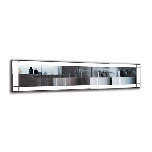 Yesayi Bathroom Mirror Metro Lane Size: 40cm H x 160cm W